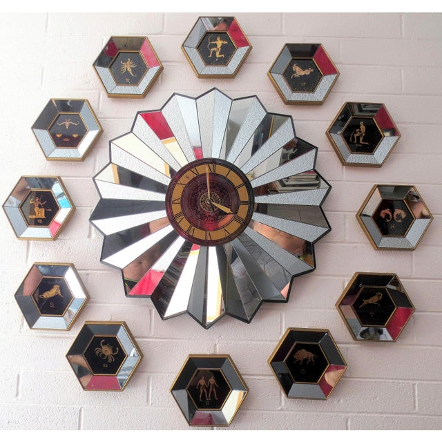 Mid-Century Zodiac Wall Clock - Image 2 of 10