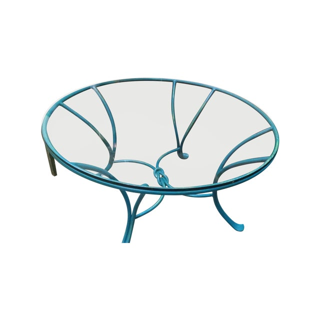 Wrought Iron Glass Top Coffee Table - Image 1 of 5