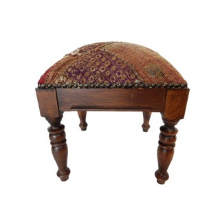 Square Indian Patchwork Stool