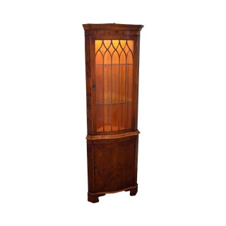 Bevan Funnell English Yew Wood Corner Cabinet
