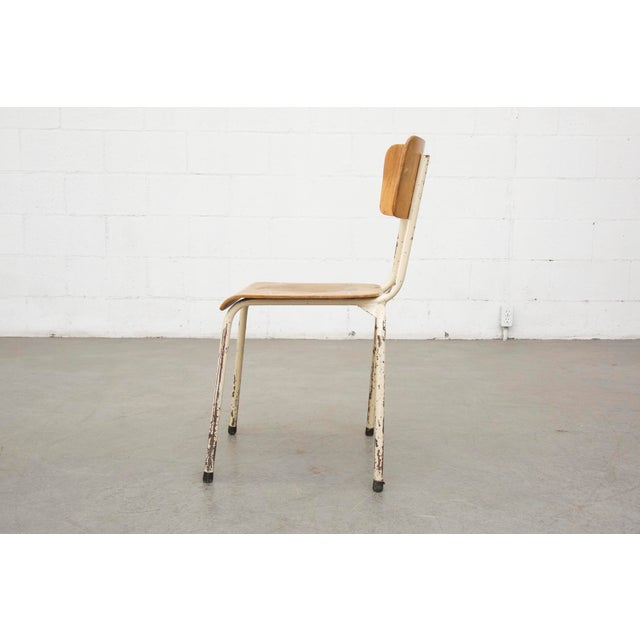 Industrial Plywood Stacking School Chairs - Image 5 of 11