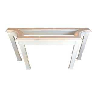 Chinoiserie Newly Lacquered White Fretwork Console Table
