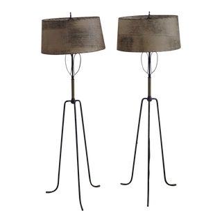 Tommi Parzinger Mid-Century Tripod Lamps - A Pair