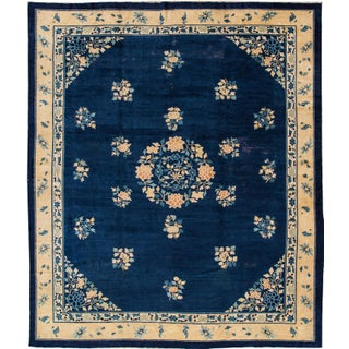 "Blue Chinese Peking Rug - 11'10"" X 14'2"""