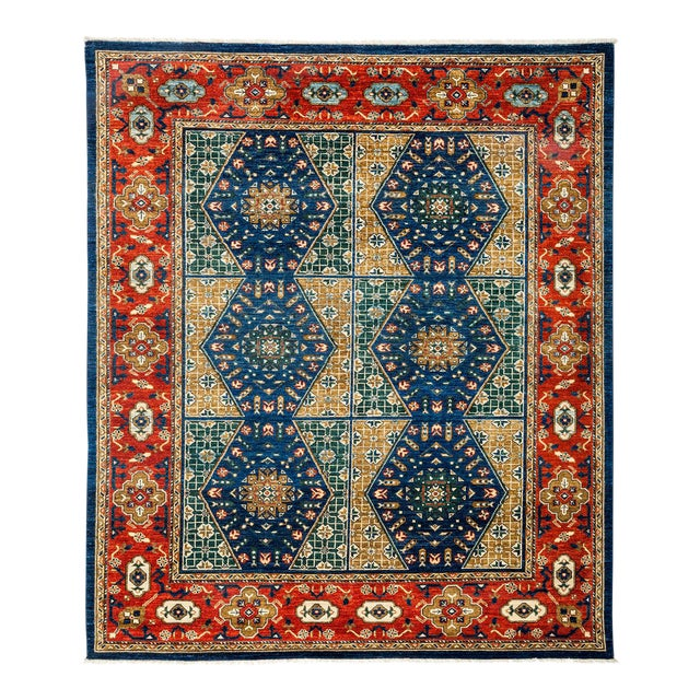 Traditional Tribal Style Hand Knotted Area Rug - 7' X 8' - Image 1 of 3