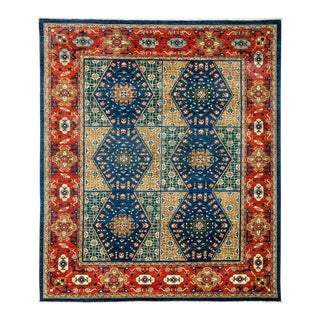 Traditional Tribal Style Hand Knotted Area Rug - 7' X 8'