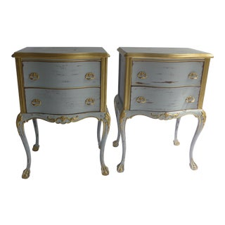 French Wooden Nightstands, 1960s - A Pair