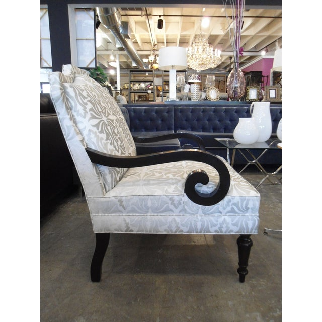 White & Silver Bergere Arm Chair - Image 5 of 10