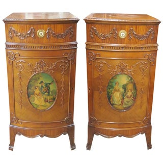Irwin Paint Decorated Inlaid Stands - A Pair