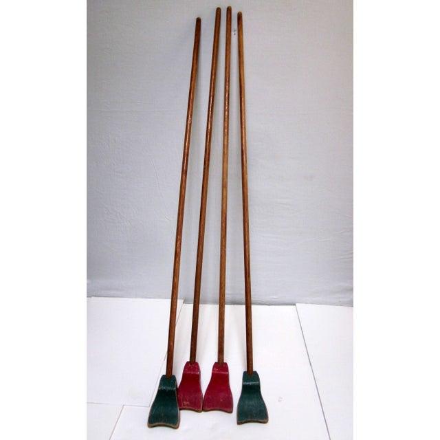 1940s Folk Art Shuffleboard Sticks - Image 2 of 8