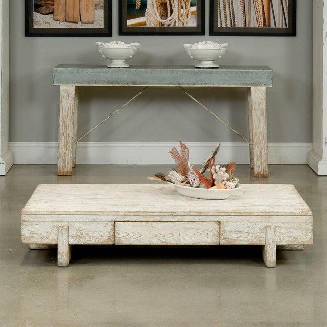 Sarreid Ltd Perth White Coffee Table - Image 7 of 8