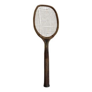 Spalding Wood & Cat Gut Tennis Racquet