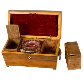 19th C. Rosewood Tea Caddy