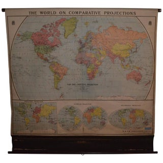 Map of the World on Comparative Projections