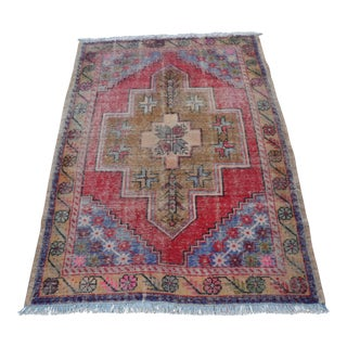 "Turkish Anatolian Oushak Carpet -- 3'5"" x 4'5"""