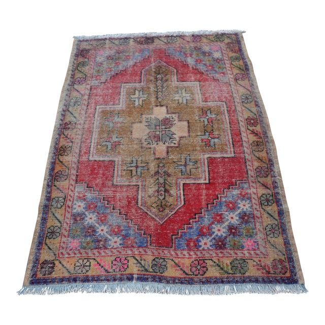 "Turkish Anatolian Oushak Carpet - 41"" x 53"" - Image 1 of 6"