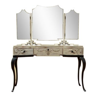 Swedish Grace Art Deco Vanity with Painted Finish, Circa 1920