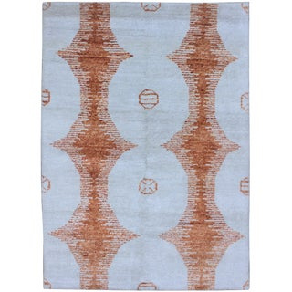 Aara Hand Knotted Bamboo Rug- 5′ × 7′