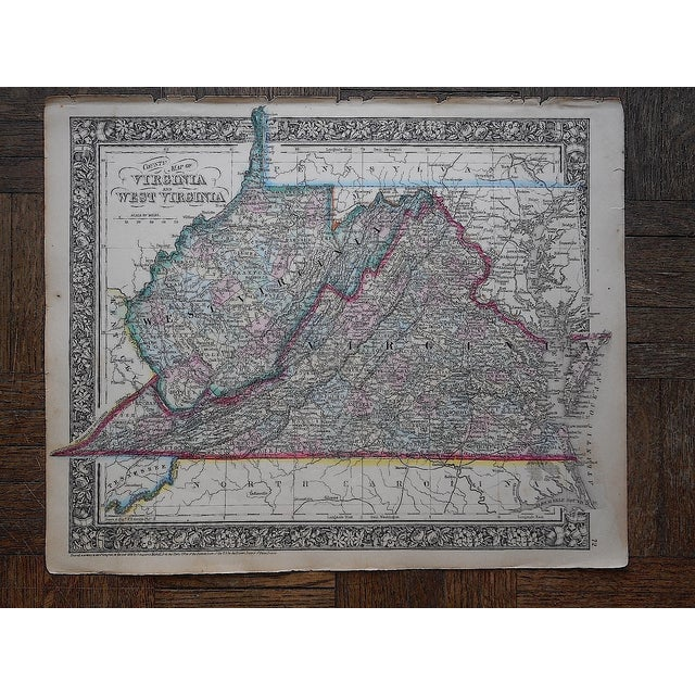 Antique 1862 Virginia & West Virginia Map - Image 2 of 3