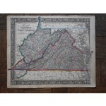 Image of Antique 1862 Virginia & West Virginia Map