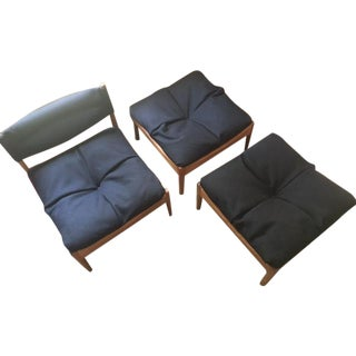 Kristian Solmer Vedel Chair & Stools - Set of 3