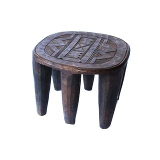 Six-Leg African Carved Stool