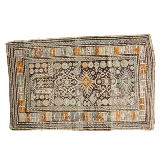 "Antique Caucasian Prayer Rug - 3'3"" x 4'11"""
