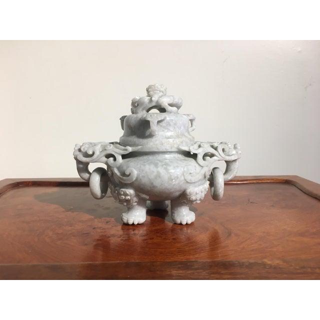 Chinese Gray Nephrite Jade Censer, mid 20th century - Image 2 of 9
