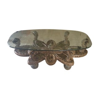 Italian Shell Inlay Baroque Ornate Coffee Table