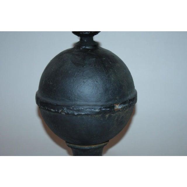 Heavy s cast iron ball point finial chairish