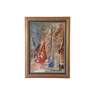 Sailboats Regatta Painting