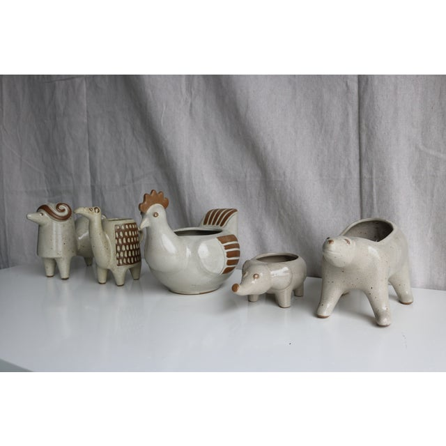 David Stewart Ceramic Animal Planters - Image 8 of 8