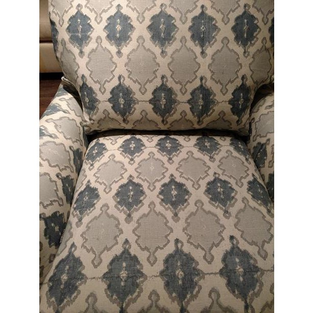 O. Henry House Blue & White Patterned Club Chair - Image 4 of 6