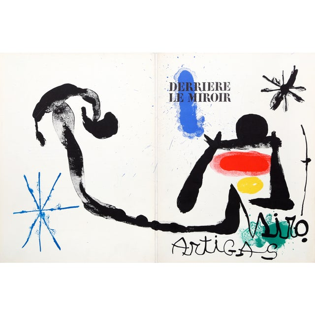 Joan miro derriere le miroir cover lithograph chairish for Miro derriere le miroir