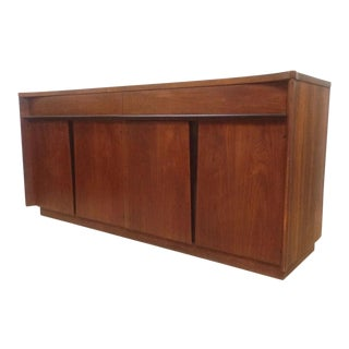 Kagan Style Winged Walnut Sideboard