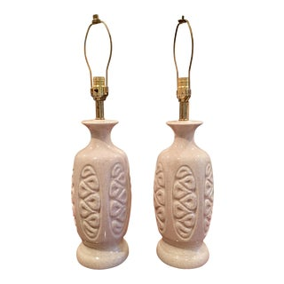 Mid-Century Ceramic Pottery Lamps - A Pair