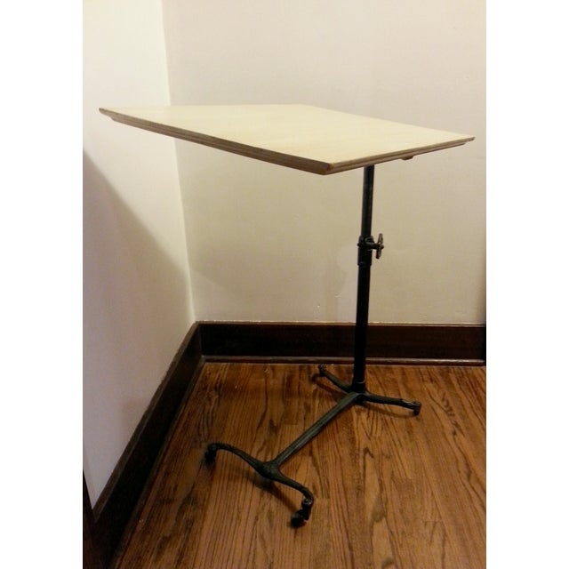 Vintage Adjustable Hospital Bedside Table Chairish