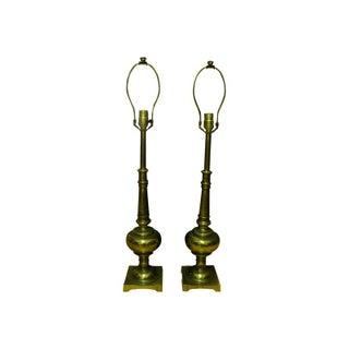Stiffel Vintage Brass Table Lamps - A Pair