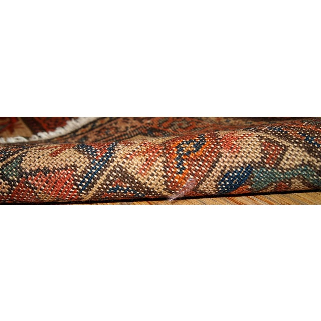 1880s Hand Made Antique Persian Kurdish Rug - 2′10″ × 5′10″ - Image 2 of 6