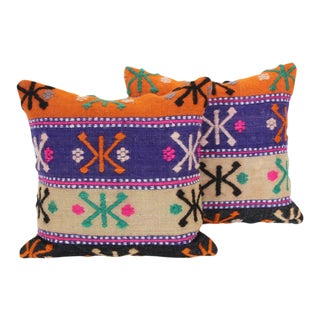 Turkish Kilim Cushions - A Pair