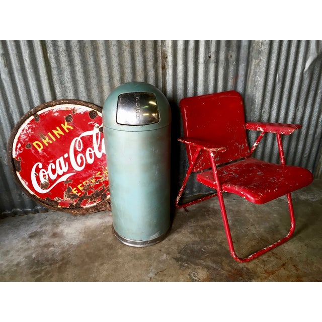 Vintage United Metal Trash Can - Image 11 of 11