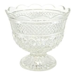 Diamond Hobnail Pedestal Centerpiece Bowl