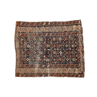 "Antique Caucasian Square Rug - 3'7"" x 4'4"""
