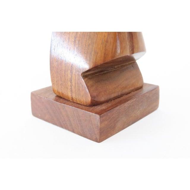 Image of Wood Tiki Head Glasses Holder