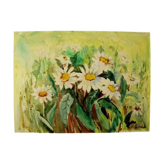 Image of Field of Daisies Watercolor
