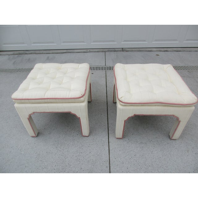 Parsons Style Stools or Footstools -A Pair - Image 2 of 10
