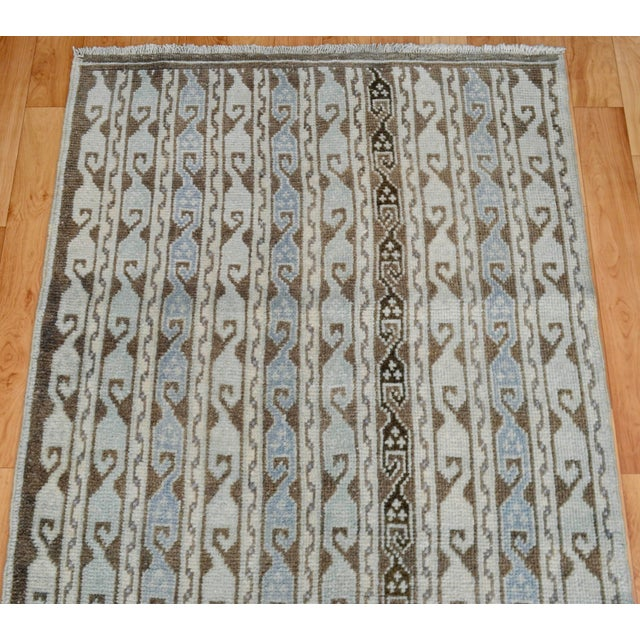 Turkish Hand-Knotted Oushak Runner Rug - 3' X 7' - Image 6 of 9