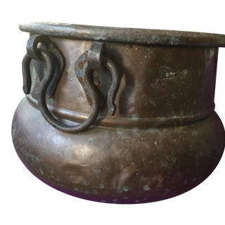 Moroccan Primitive Copper Container