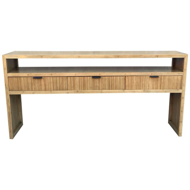 Solid Bamboo Console or Sofa Table - Image 1 of 5