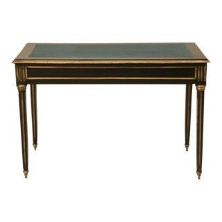French Louis XVI Style Ebonized Writing Desk